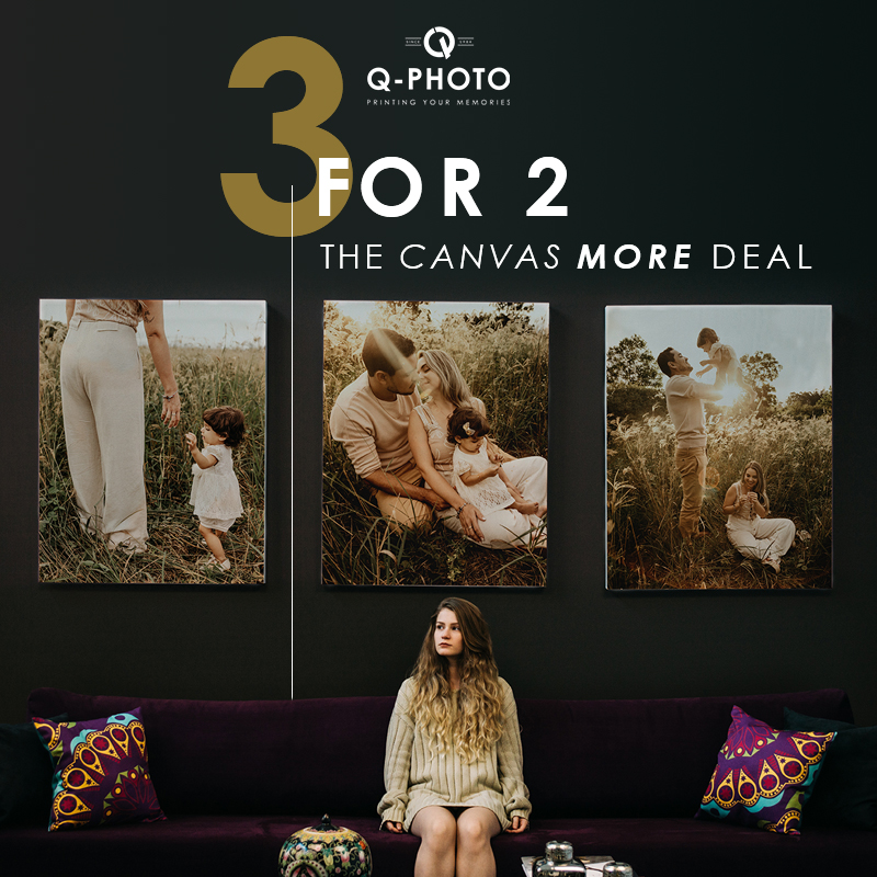 3 for 2 Collage Canvas