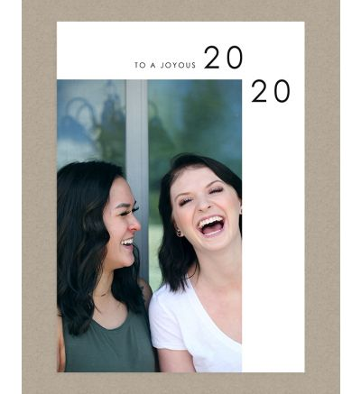 Joyous 2020 Portrait Holiday Card