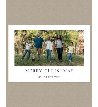 Merry Christmas Landscape Holiday Card