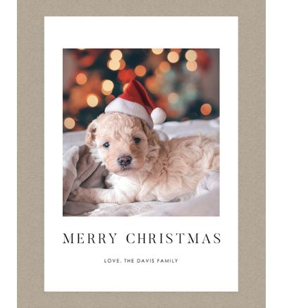 Merry Christmas Portrait Holiday Card