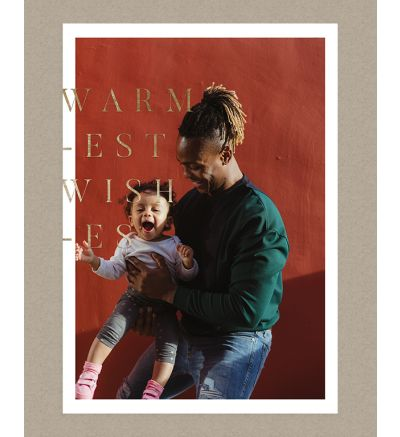 Warmest Wishes Portrait Holiday Card