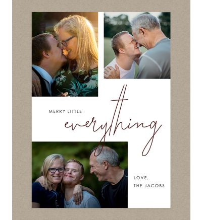 Merry little Everything Portrait Holiday Card