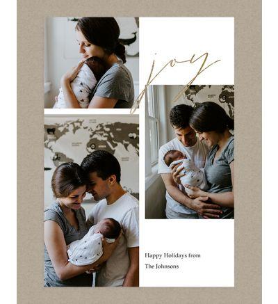 Joy Portrait Holiday Card