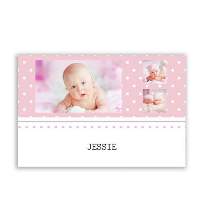 Polka Dot Pink Canvas Print And Stretch Rectangle