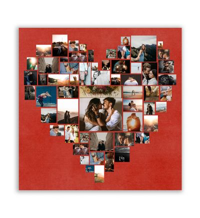 Heart of Memories Canvas Print And Stretch Square