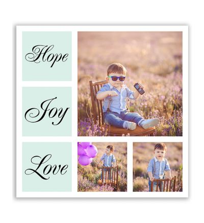 Love Joy Hope Canvas Print And Stretch Square