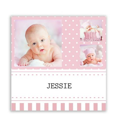 Polka Dot Pink Canvas Print And Stretch Square