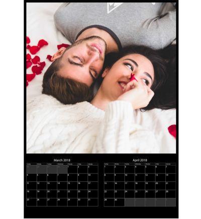 6 Page Calendar Black 2020