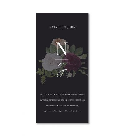 Invite - DL - Floral - Set of 6