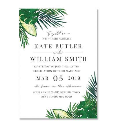 Invite - A5 - Tropical - Set Of 4