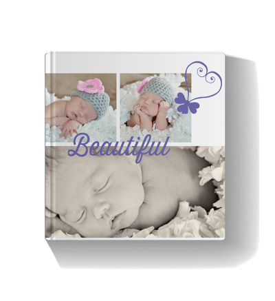 Baby Girl Purple Photo Book