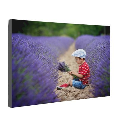 Single Image - Black Border Canvas Print And Stretch