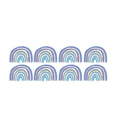 Blue Rainbow Pattern
