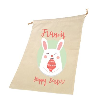 Bunny Easter Personalised Draw String Bags