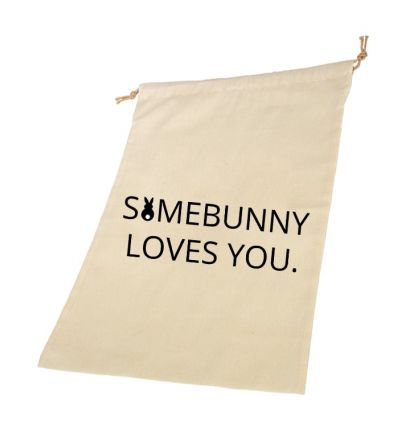 Bunny Love Personalised Draw String Bags