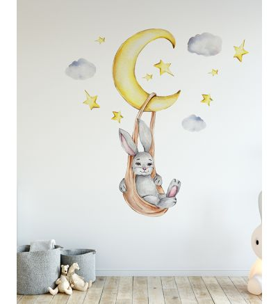 Bunny Swinging On The Moon