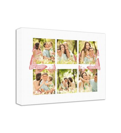 Butterflies Pink Canvas Print And Stretch Rectangle