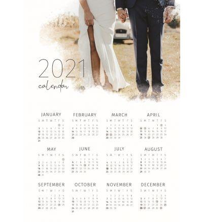 1 Page Calendar - Paint Splash
