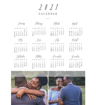 1 Page Calendar - Simple Overlay