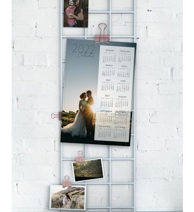 1 Page Calendar - Simple Full Image