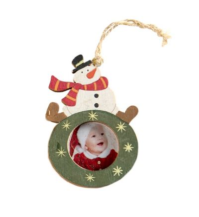 Christmas Tree Decor Small Snowman Green
