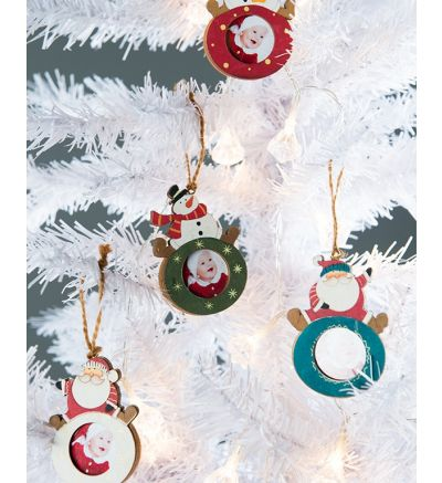 Christmas Tree Decor Small Santa Blue