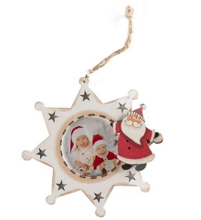Christmas Tree Wooden Stars - White