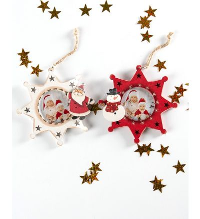Christmas Tree Wooden Stars - Red