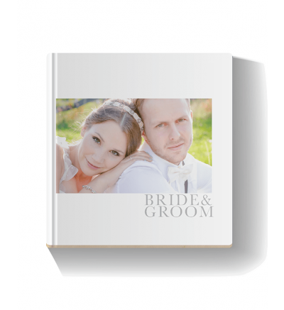 Classic Grey Square Photo Book