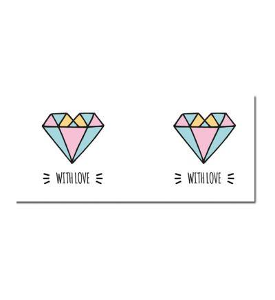 Colour Change Mugs Diamond Heart