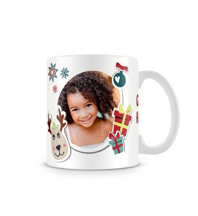 Colour Change Mugs Rheindeer Afrikaans