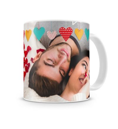Colour Change Mugs Valentine Colourful Hearts