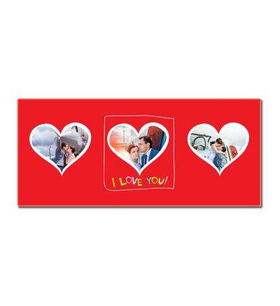 Colour Change Mugs Valentine Three Hearts