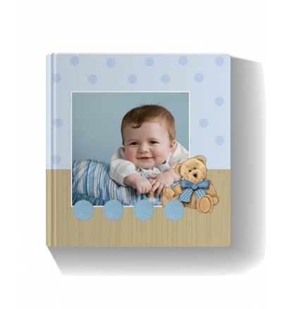 Cuddle Baby Blue Photo Book