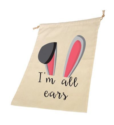 Ears Personalised Draw String Bags