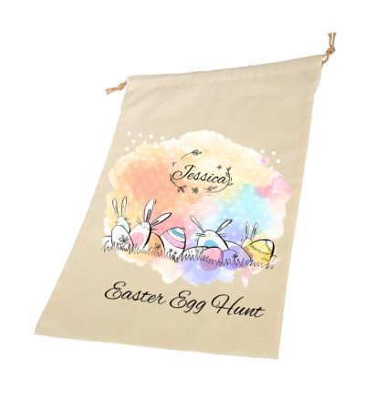 Easter Garden Personalised Draw String Bags