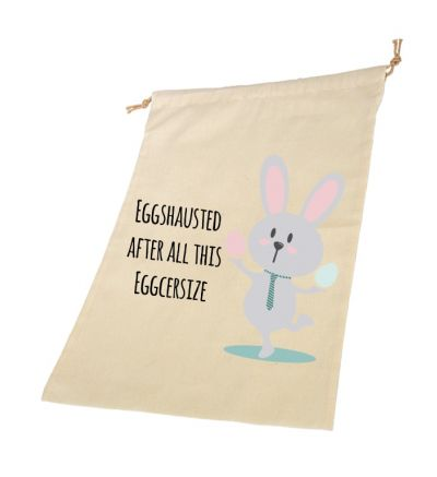 Eggcersize Personalised Draw String Bags