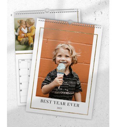 Portrait Calendar Gold Gilded