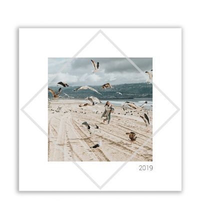Grey Frame Canvas Print And Stretch Square