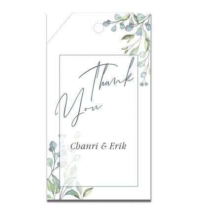 Parties - Engagement - Gift Tags - Flower Elegance
