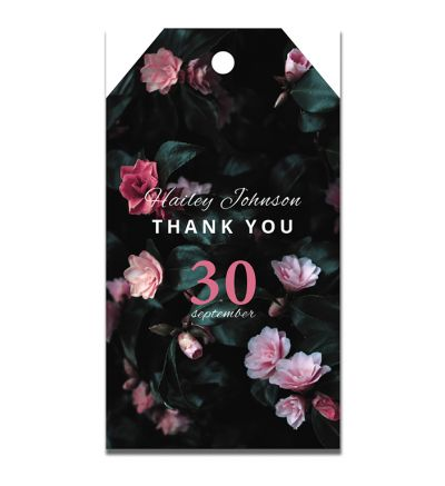 Parties - Kitchen Tea - Gift Tags - Modern Flower