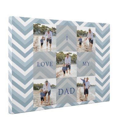 Love Dad Pink Canvas Print And Stretch