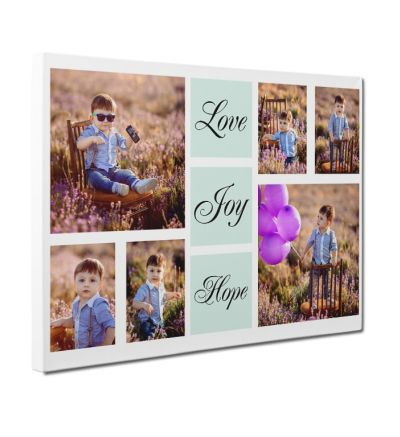 Love Joy Hope Canvas Print and Stretch