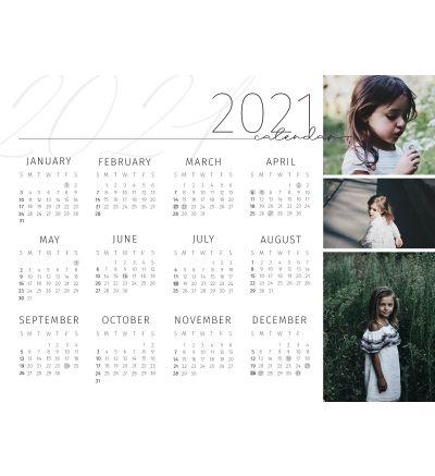 6 x 8 Inch Magnet Calendar - 2021