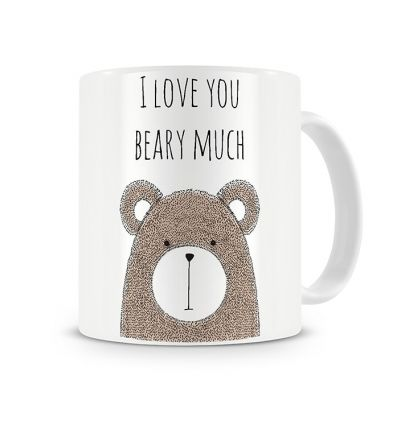 Message Mugs Beary Love Brown