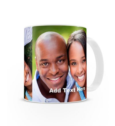 Message Mugs Double Image With Text