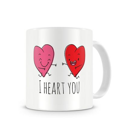 Message Mugs I Heart You
