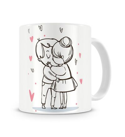 Message Mugs In Love Kiss