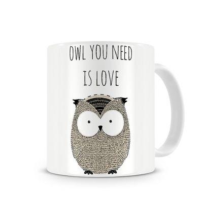 Message Mugs Owl Love
