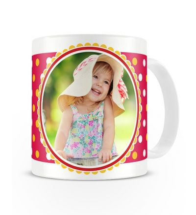 Message Mugs Polka Dots Pink